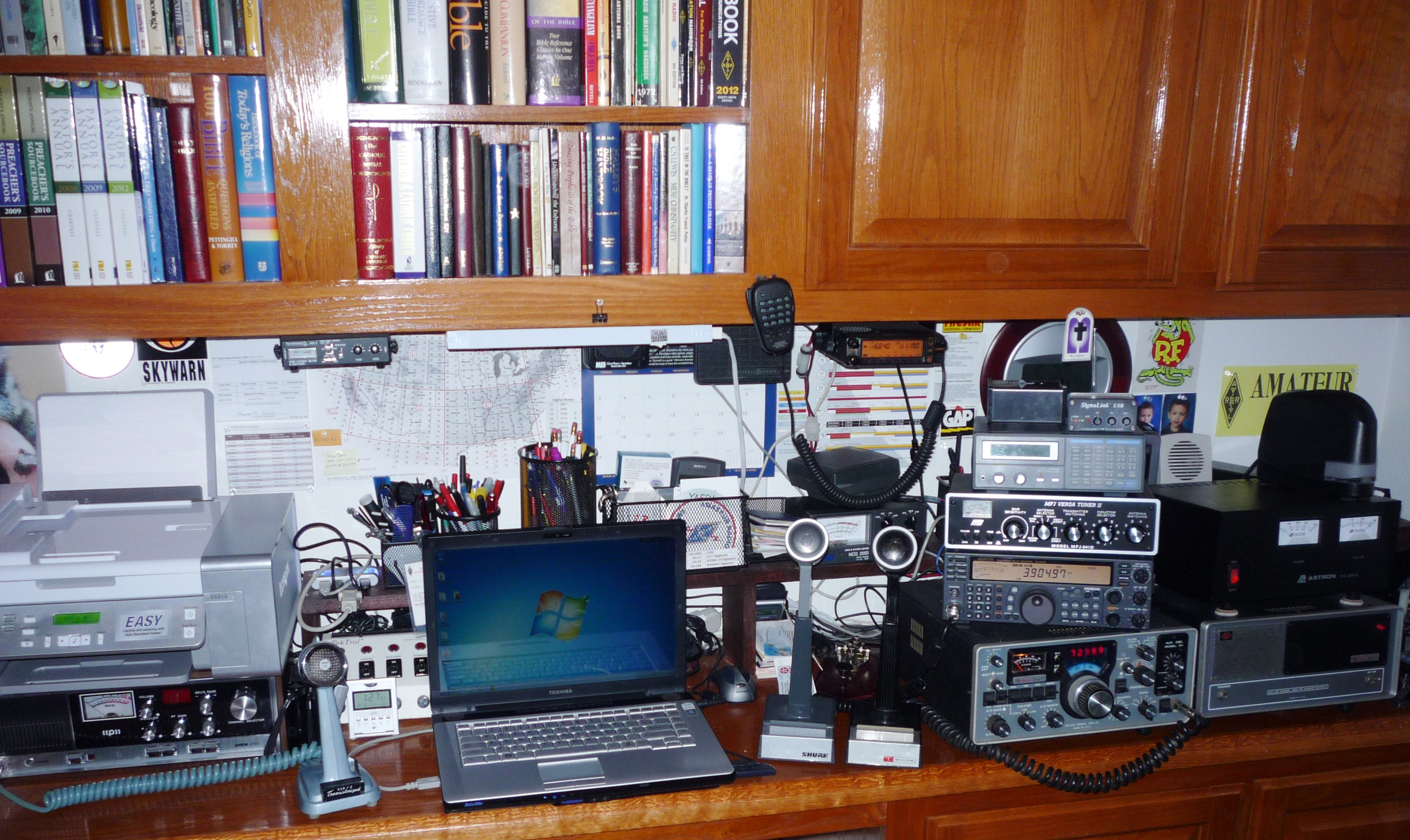 My radio shack is also my home office!